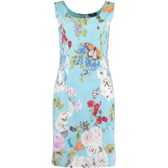 New 2018 Pomodoro Floral Dress- Turquoise