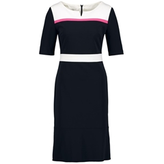New 2018 Gerry Weber Dress With Contrasting Print - Navy