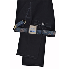 Meyer Trousers Satin Cotton black - New York 5531-09