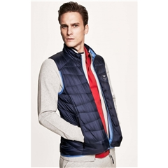 New 2018 Hackett AMR Down Gilet - Navy