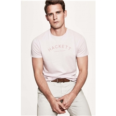 New 2018 Hackett Classic Tee - Washed Pink