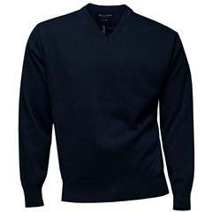 Franco Ponti Classic Vee Neck Sweater - Medium Weight - Navy