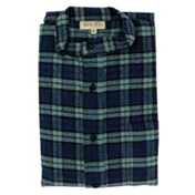 Magee Men's Bold Navy and Green Check Nightshirt - Blackwatch Design