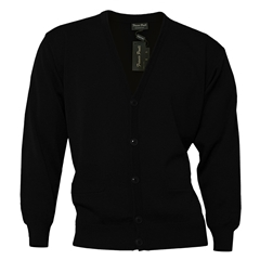 Franco Ponti Mens Franco Ponti Button Front Cardigan in Black