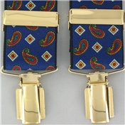 Blue Paisley Clip On Braces