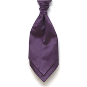 Men's Satin Wedding Cravat- Purple