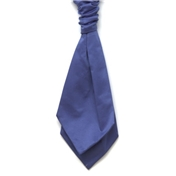 Men's Satin Wedding Cravat- Blue