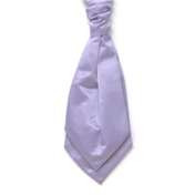 Men's Satin Wedding Cravat- Lilac
