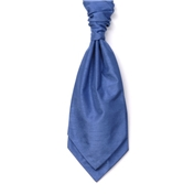 Men's Shantung Wedding Cravat- Airforce