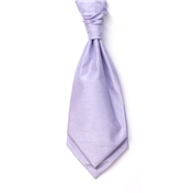 Men's Shantung Wedding Cravat- Lilac