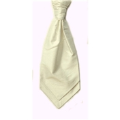Men's Shantung Wedding Cravat- Ivory
