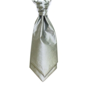 Men's Wedding Cravat- Silver