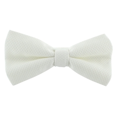 Men's Marcella ready tied bow tie - White