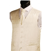 Men's 'Crinkle Finish' Wedding Waistcoat- Ivory