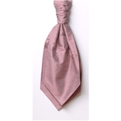 Men's Silk Shantung Wedding Cravat- Pink