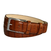 Tan Brown Leather Belt by Robert Charles