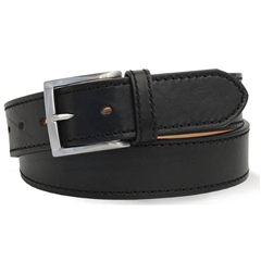 Black Leather Jeans 'Montorfano' Belt by Robert Charles