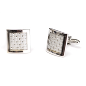 Silver and Grey Square Cufflinks