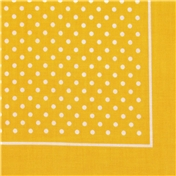 Bandana or Large Handkerchief - Yellow Polka Dots