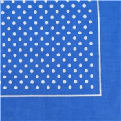 Bandana or Large Handkerchief - Sky Blue Polka Dots