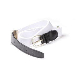 White Elasticated Webbing Belt - One Size Fits All