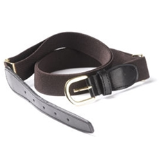 Brown Elasticated Webbing Belt - One Size Fits All