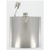 6oz Polished Steel Excellent Quality Hip Flask