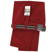 Meyer Cotton Canvas Trouser - Red - Size 34 Long Only