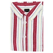 Nightshirts For Gentlemen - Wine Stripe - Sizes  Up To 6XLarge