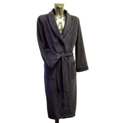 Fleece Dressing Gown - Navy
