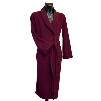 Fleece Dressing Gown - Wine