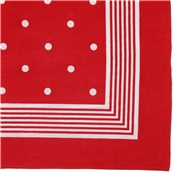 Bandana or Large Handkerchief (B21) - Red Polka Dots