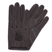 Dents Men's  Deerskin Leather Driving Gloves - Black