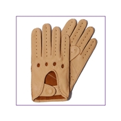 Dents Men's  Deerskin Leather Driving Gloves - Chamois