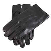 Dents Men's Plain Leather Gloves - Black