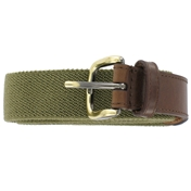 Plain Webbing Belt - Khaki