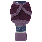 House Of Cheviot Lady Crathie Socks - Lilac Bilberry