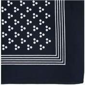 Bandana Or Large Handkerchief - 3 Navy Polka Dots