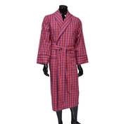Men's Lightweight Dressing Gown - Red Check