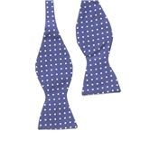 Bow To Tie - Navy/White Dotted