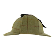Sherlock Holmes Deerstalker in Light Green Tweed