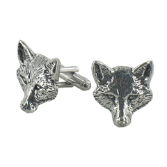 Fox Head English Pewter Cufflinks