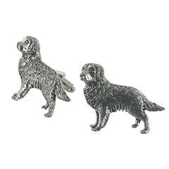 Golden Retriever English Pewter Cufflinks
