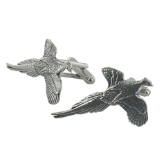 Pheasant English Pewter Cufflinks