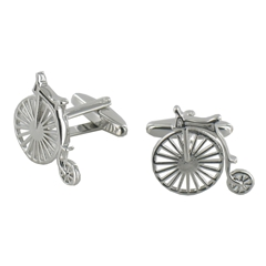 Penny Farthing Bike Retro Design Cufflinks