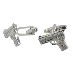 Crystal Pistol Cufflinks