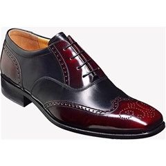 Barker Shoes Style: Dartford - Burgundy/ Black Hi-Shine
