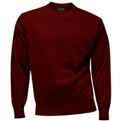 Franco Ponti Crew Neck Sweater - Burgundy