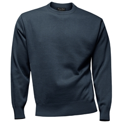 Franco Ponti Crew Neck Sweater - Dark Denim
