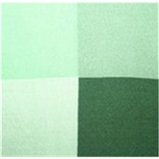 Silk Pocket Handkerchief - Four Quaters With Borders Of Opposite Colours - Green